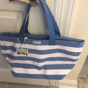 Dolce & Gabbana light blue canvas bag